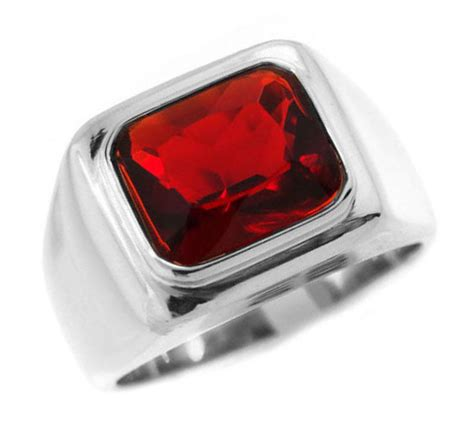 red stone rings shop for red stone rings on polyvore ruby red stone solitaire silver stainless steel mens ring