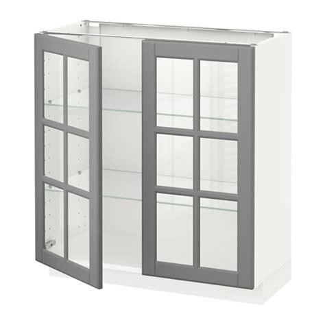 Lemari Kaca Ikea Metod Lemari Dasar Dengan 2 Pintu Kaca Putih 80x37x80 Cm Ikea