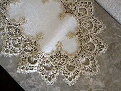 44 delicate soft gold lace dresser scarf table runner