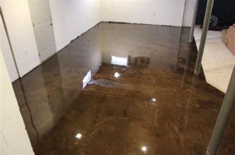 metallic epoxy basement floor home ideas