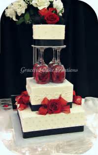 elegant white black and red wedding cake a photo on flickriver