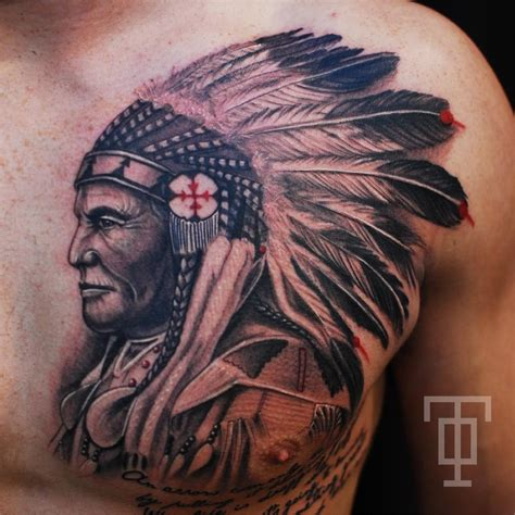 tattoo ink india black ink indian chief tattoo on man chest tattoo