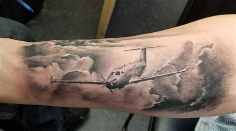 jet tattoo fighter plane veteran ink