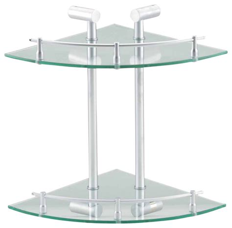 bathroom shelving clear glass stainless double glass