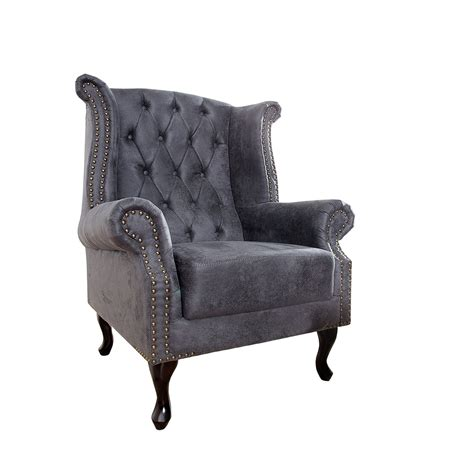 ebay chesterfield armchair chesterfield armchair quot manchester quot antique grey 41 5