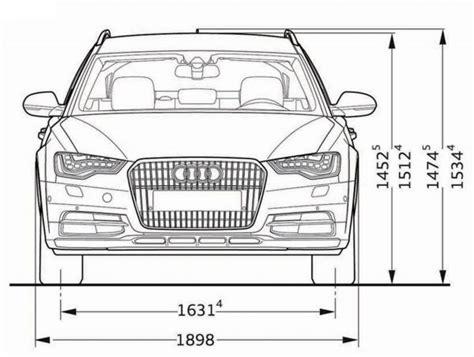 Audi A6 Abmessungen by Audi A6 Allroad Quattro Abmessungen Technische Daten