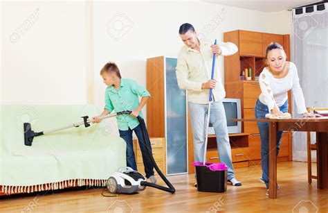tips on how to a ordinary family doing house cleaning with cleaning equipment pertaining to house
