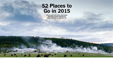 52 Places To Go In You Seen This 52 Places To Go In 2015 Points And