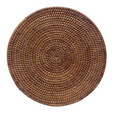 Wastepaper Basket Set Of 4 Round Rattan Placemats Kosmopolitan