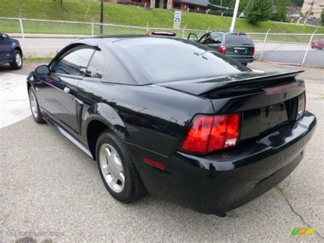 2000 ford mustang v6 black 2000 ford mustang v6 coupe exterior photo 69558375