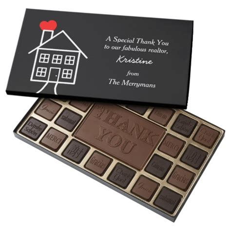 thank you letter chocolate gift thank you gift for realtor chocolate box zazzle