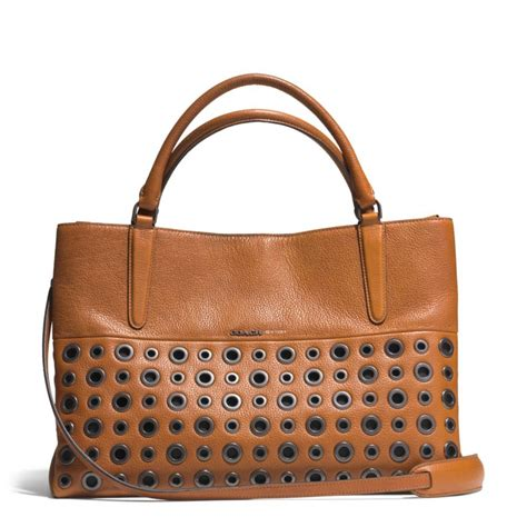 Coach And Their Coach Handbags by Lyst Coach The Grommets Soft Borough Bag In Pebbled