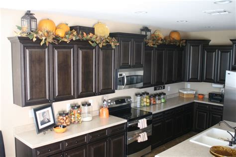 ideas for decor above kitchen cabinets with regard to