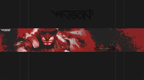 graphic design youtube banner batman arkham knight bloodstone youtube banner by