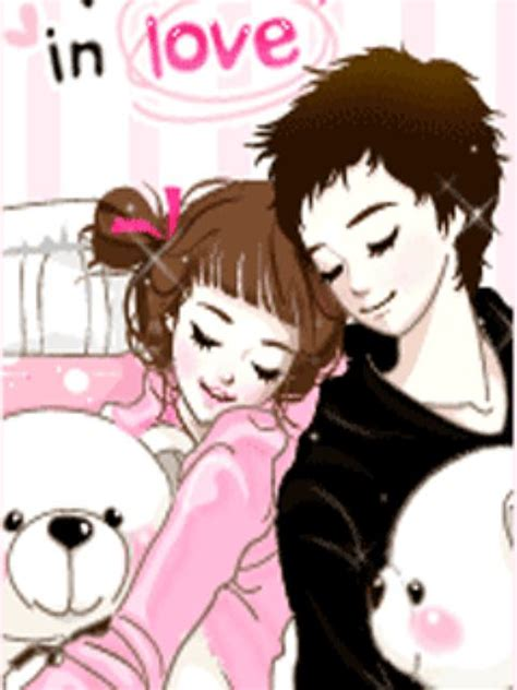 wallpaper animasi love couple animated cute love couple wallpapers www pixshark com