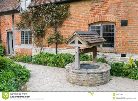 backyard well old bricked well stock photo image of house bricked 31657382