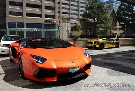 Lamborghini In Toronto Lamborghini Aventador Spotted In Toronto Canada On 04 23 2016