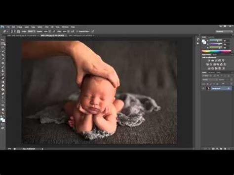 tutorial photoshop newborn head in hands composite tutorial dna photography youtube