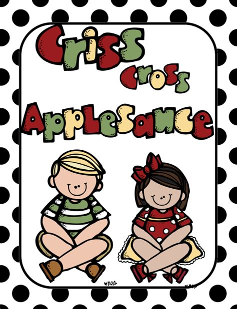 Criss Cross Applesauce Clipart for a freebie for friday and a new listing on