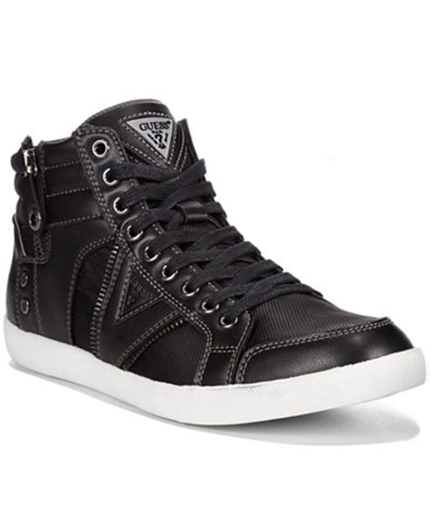 guess the shoe guess jarlen hi top sneakers all s shoes macy s