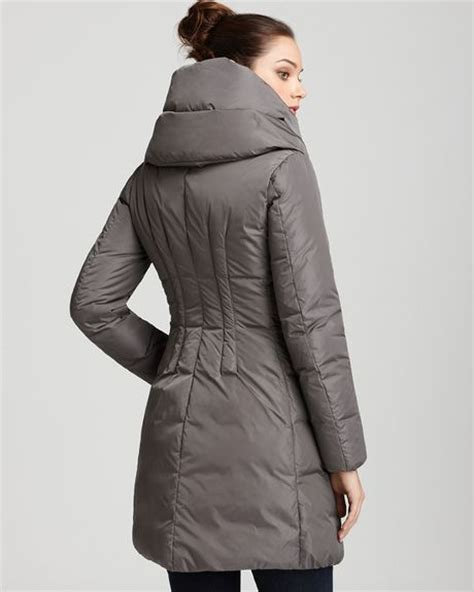 Pillow Collar Coats by Moncler Pillow Collar Coat In Black Grey Lyst