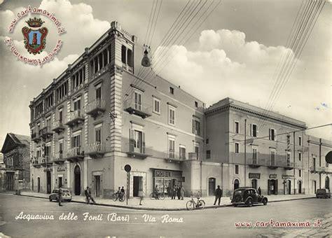 ufficio postale via taranto roma acquaviva delle fonti bari via roma da cartolina d epoca