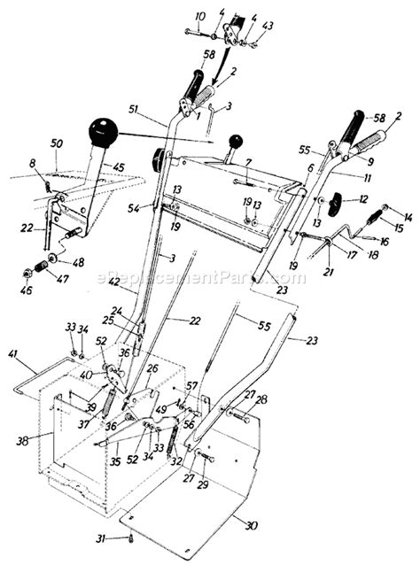 yardman snowblower parts diagram mtd 31385 9 parts list and diagram 1989