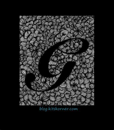 doodle inisial digital doodles initial g kitskorner
