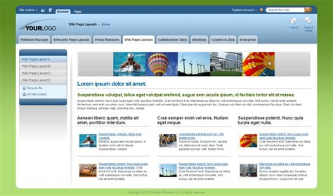 theme with page templates image gallery sharepoint 2010 templates
