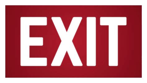 Exit A exit png images free