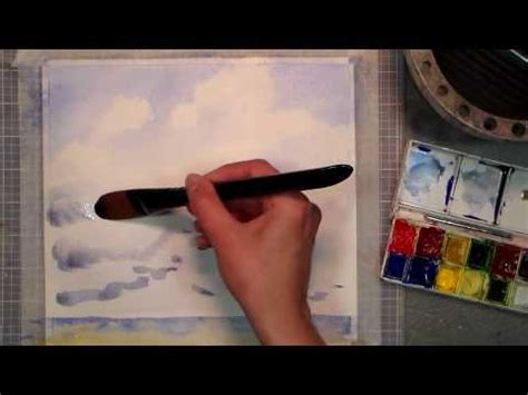 watercolor tutorial frugal crafter let s paint clouds in watercolor the frugal crafter blog