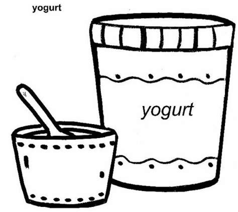 Coloring Page Yogurt by Yogurt Clipart To Color