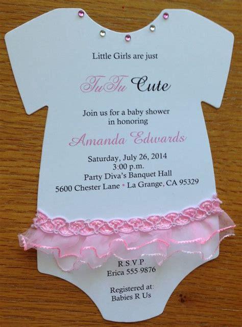 Tutu Baby Shower Invitations by Tutu Baby Onesie Baby Shower Invitation Die Cut Out By