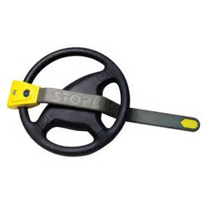 Steering Wheel Is Locked Stoplock Airbag Car Steering Wheel Lock