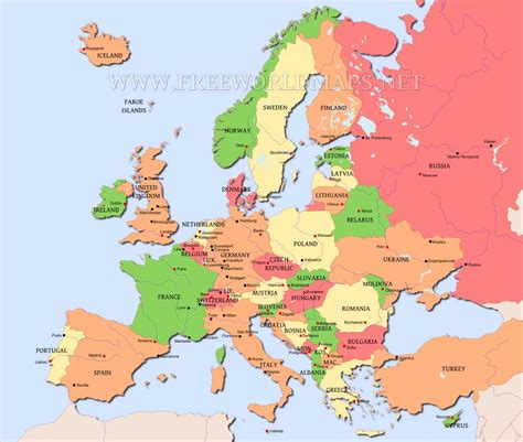 map of eurpoe map of europe free large images