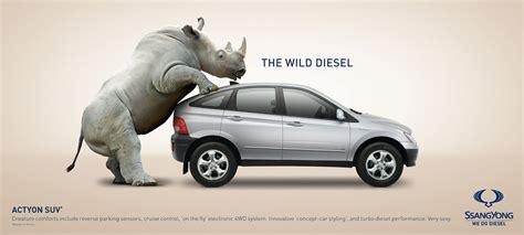 car advertisement ssangyong the wild diesel automotive advertisement