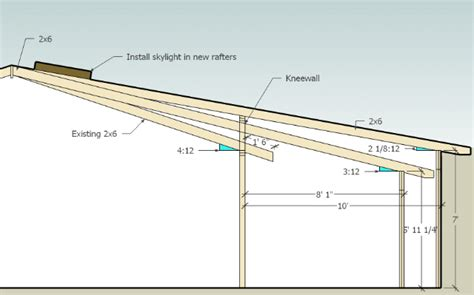 Adding Shed Roof Deck - learn adding a shed roof to an existing roof mak