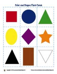 And shapes flash cards printable on pre k shape worksheet house color