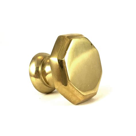 Brass Cabinet Knobs by Gold Hexagon Solid Brass Knob Cabinet Hardware