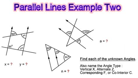 Angles and Parallel Lines | Passy's World of Mathematics Line Geometry Example