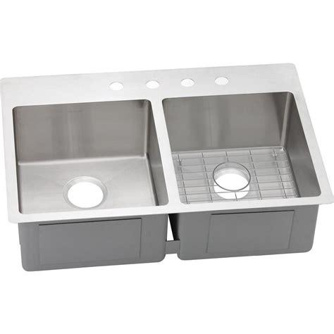 Dual Mount Sink by Elkay Crosstown Dual Mount Stainless Steel 33 In 4