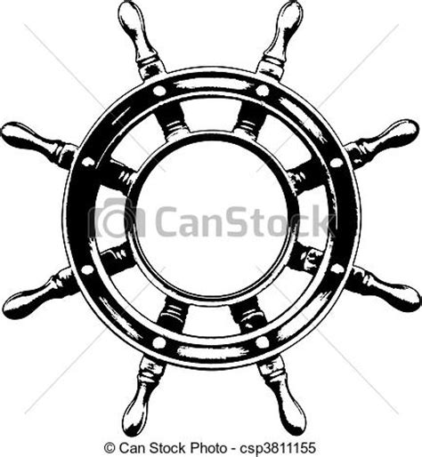 boat steering wheel drawing clipart vecteur de roue bateau direction vector