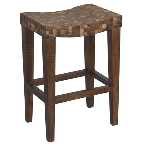 saddle seat stool 24 coco saddle seat 24 quot counter stool wood brown target