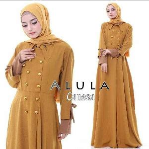 Merah Kuning Gamis Dress Maxi Panjang Maxy Baju Longdress Burberry Hem baju gaun dress pesta panjang bahan brukat warna merah model terbaru