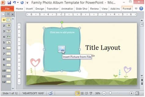 powerpoint photo album layout family photo album template for powerpoint