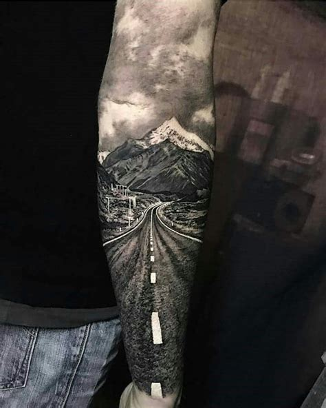 tattoo london road south this tattoo is truly amazing so artistic scenery tattoo