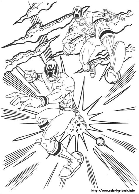 pages book info power rangers coloring picture