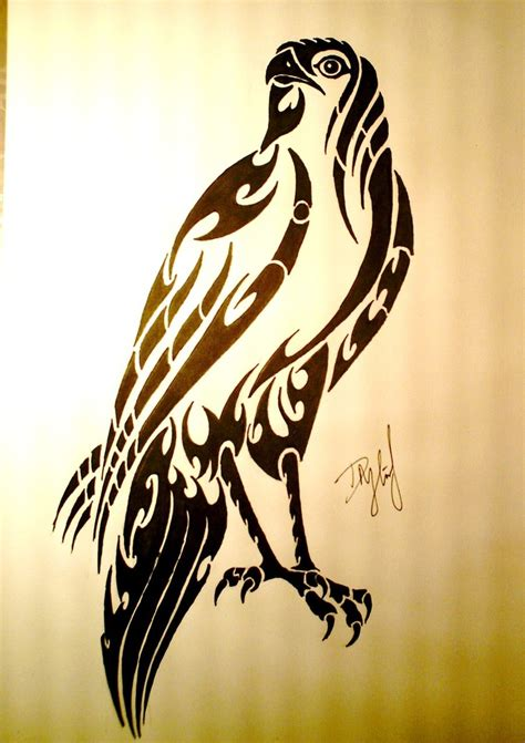 cute tribal tattoo hawk images designs