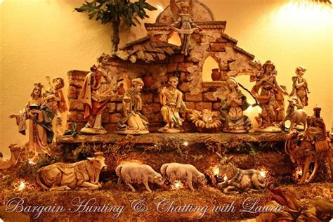 vintage fontanini nativity mantel display christmas mantel