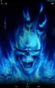 tengkorak dalam api biru wp hidup lovlya